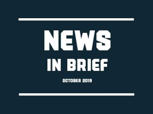 News in brief October 2019