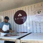 Modified shipping container serves kaimoana for the community