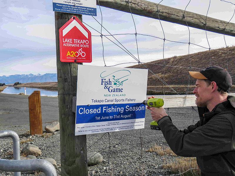 Upper-Tekapo-Canal-sports-fishery-precautionary-closure